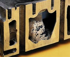 Severe corrosion can occur when additives that protect the cooling system have been depleted